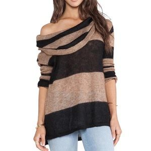 FP Free People Rugby Stripe Cowl Sweater sz XS